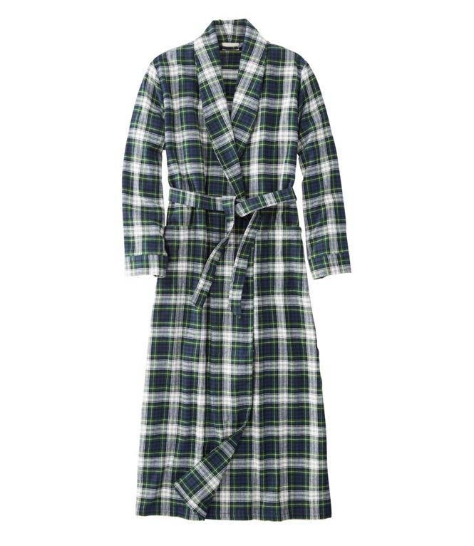 L.L.Bean Scotch Plaid Flannel Robe