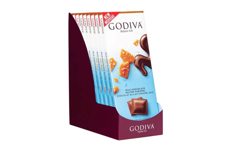 Godiva salted chocolate caramel bar pack