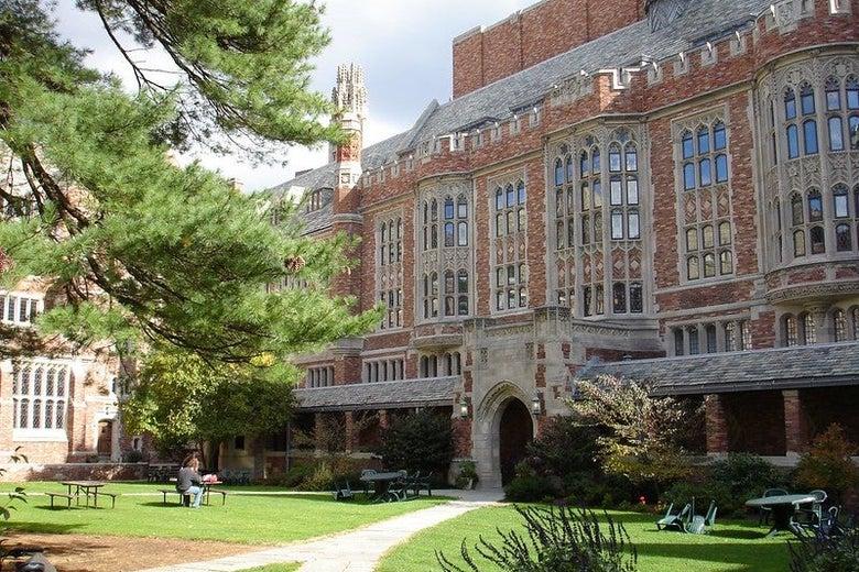 The Yale Law School courtyard.