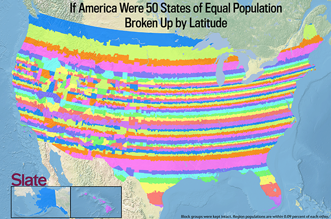 If Every Us State Had The Same Population What Would The Map Of - Map-of-all-us-states
