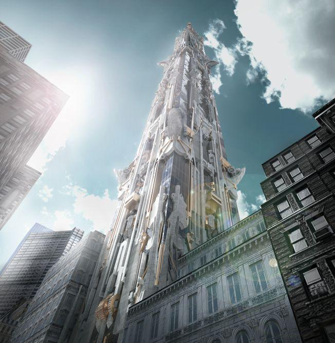 Mark Foster Gage Architects - 41 West 57th Street - View from 57th street a