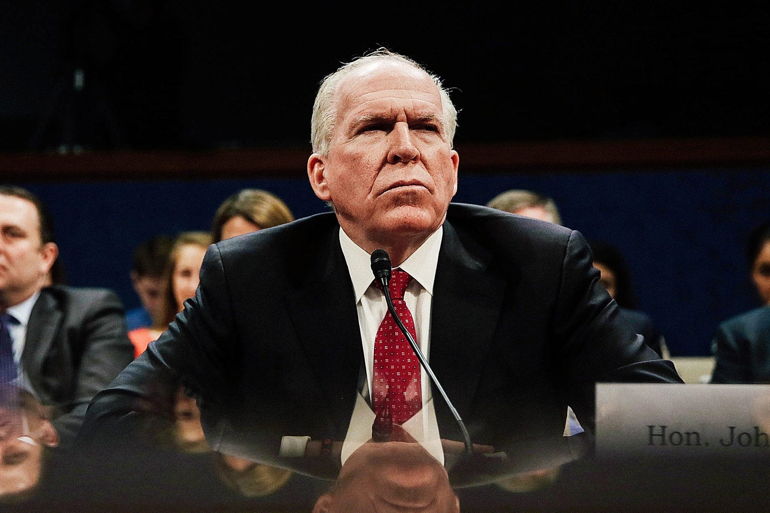 Former CIA Director John Brennan testifies before the House Permanent Select Committee on Intelligence on Capitol Hill on May 23, 2017.