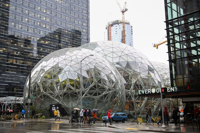 The Spheres, at Amazon's headquarters in Seattle.