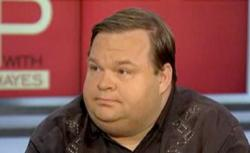 Still of Mike Daisey from Up with Chris Hayes.