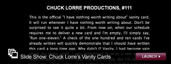 Click here to launch a slide show on Chuck Lorre.