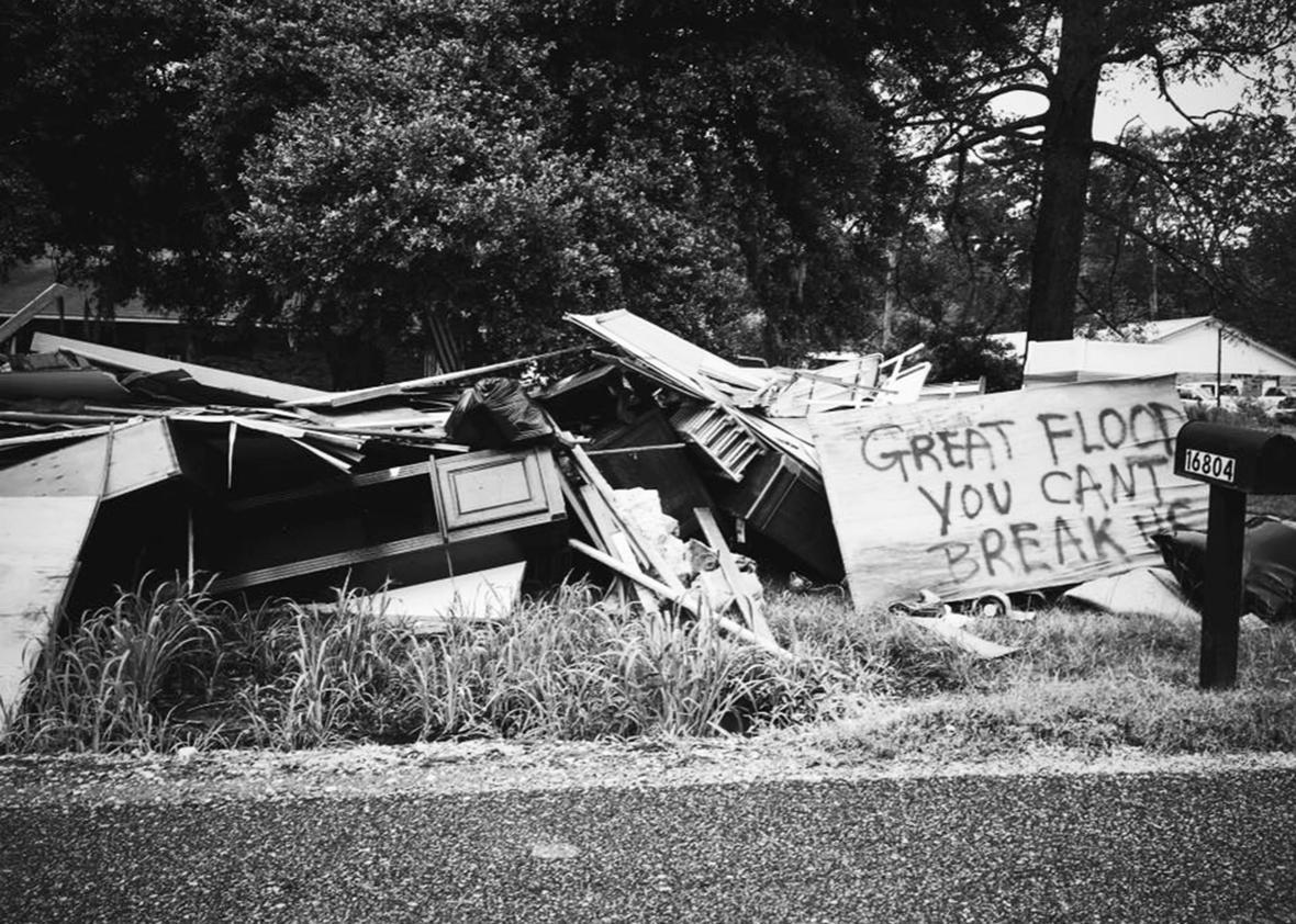 A pile in Denham, Louisiana.