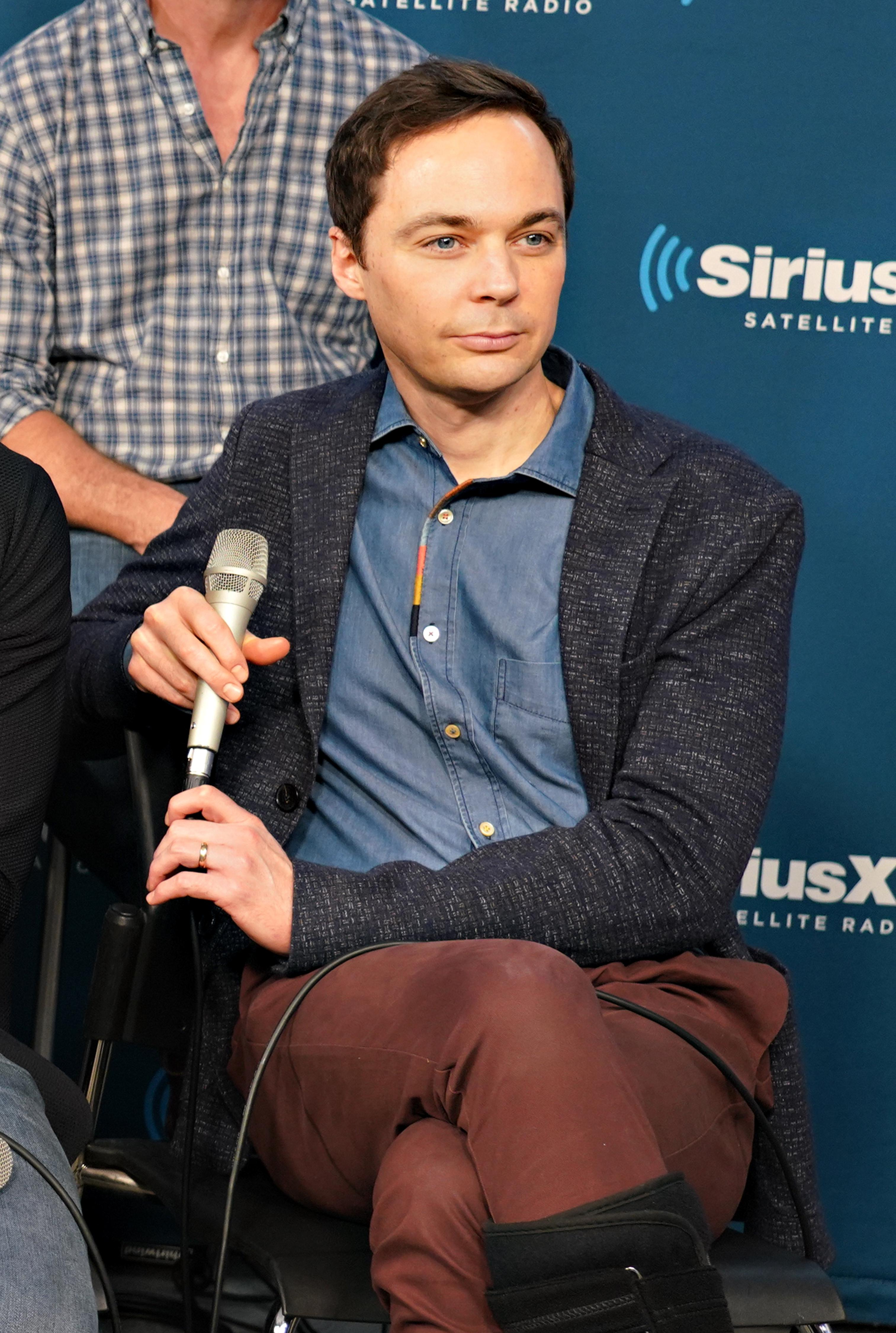 NEW YORK, NY - JUNE 14:  Actor Jim Parsons takes part in SiriusXM's Town Hall with the cast of 'Boys In The Band' hosted by Andy Cohen at SiriusXM Studios on June 14, 2018 in New York City.  (Photo by Cindy Ord/Getty Images for SiriusXM)