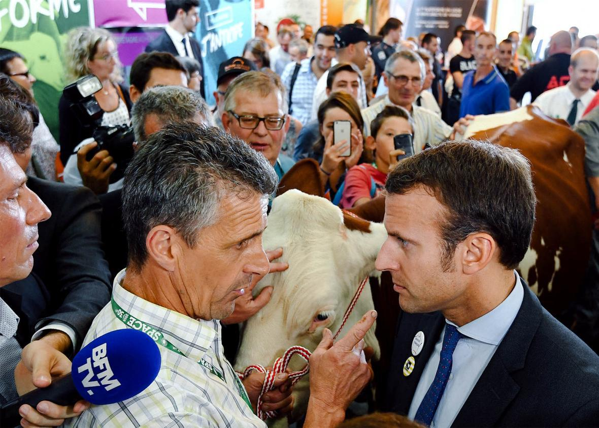 Macron in Rennes, Brittany