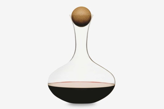 Sagaform Hand-Blown Glass Wine Decanter With Stopper.