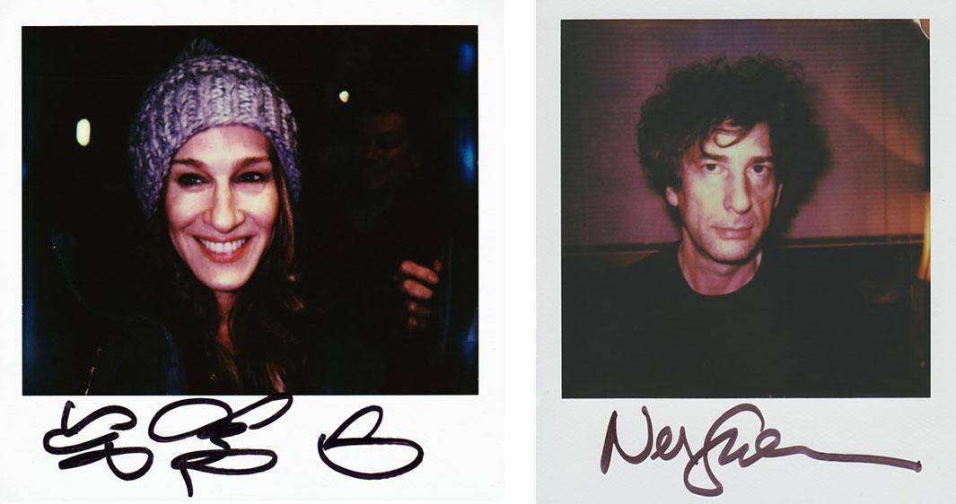 Left: Sarah Jessica Parker Right: Neil Gaiman