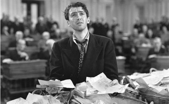 "Still of James Stewart in ""Mr. Smith Goes to Washington."""