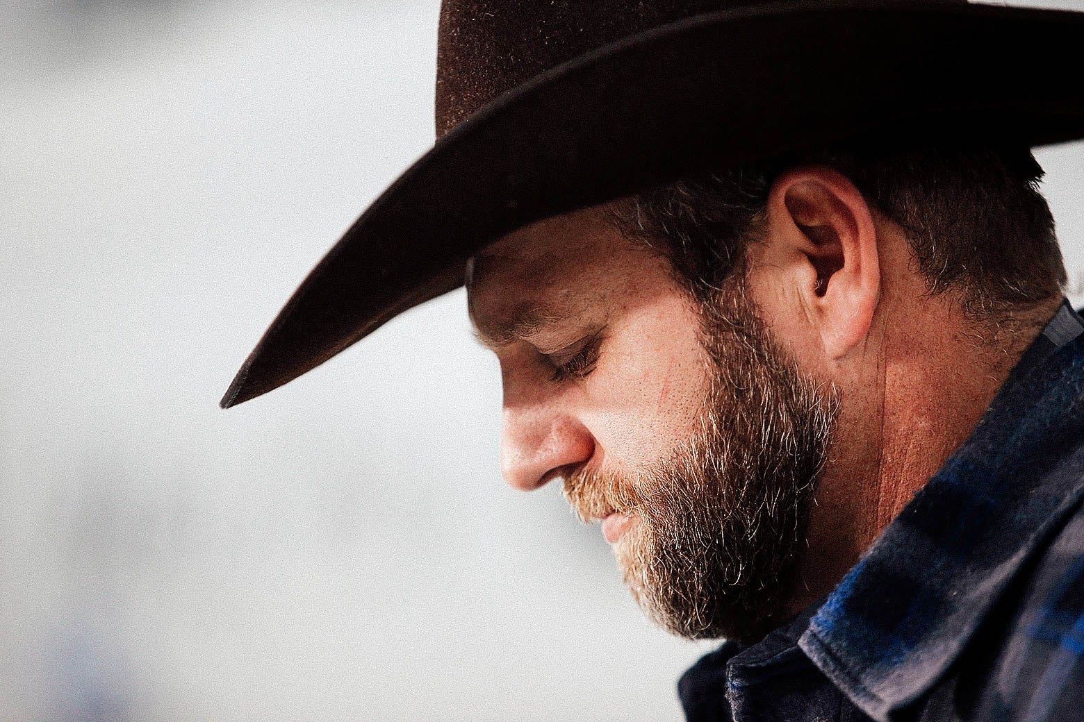 Ammon Bundy speaks to members of the media in front of the Malheur National Wildlife Refuge Headquarters on Jan. 5, 2016 near Burns, Oregon.