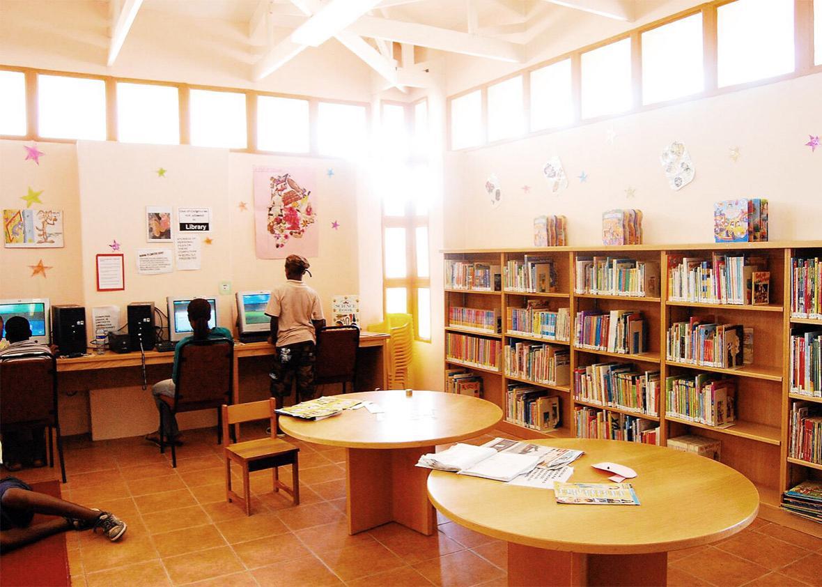 Mmankgodi Community Library, Botswana.