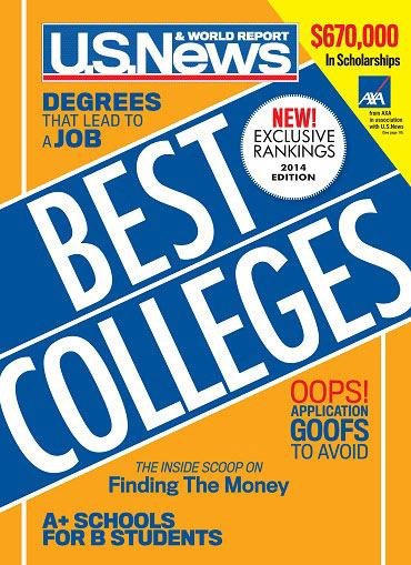 Courtesy US News Best Colleges.
