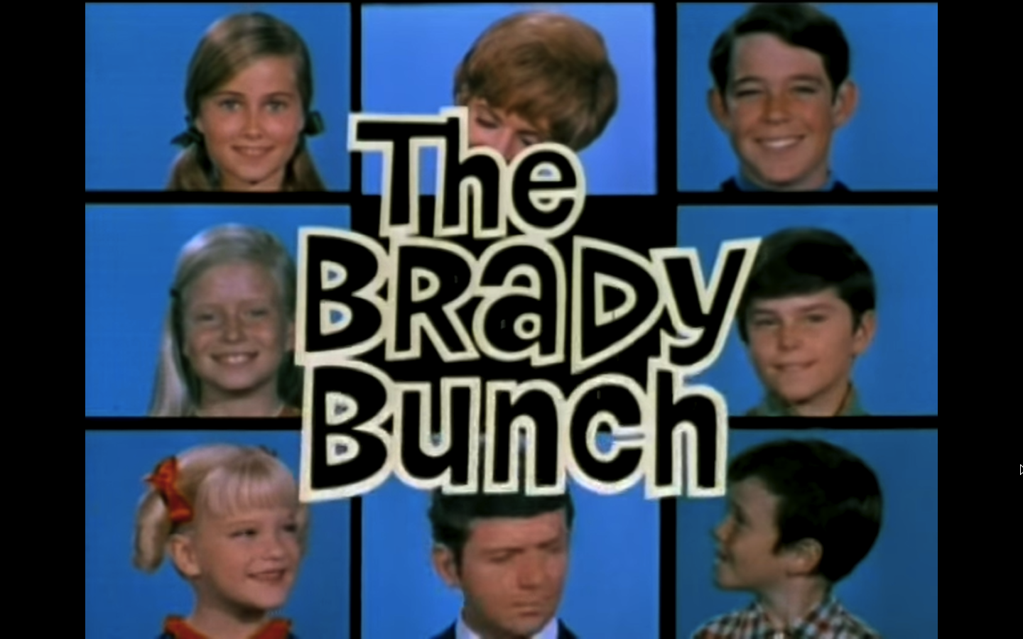 The Brady Bunch opening credits.