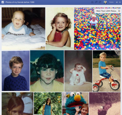 Facebook graph search results for friends' baby photos