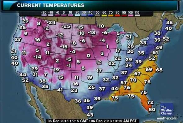 Winter storm Cleon, record lows: US weather map today is ...