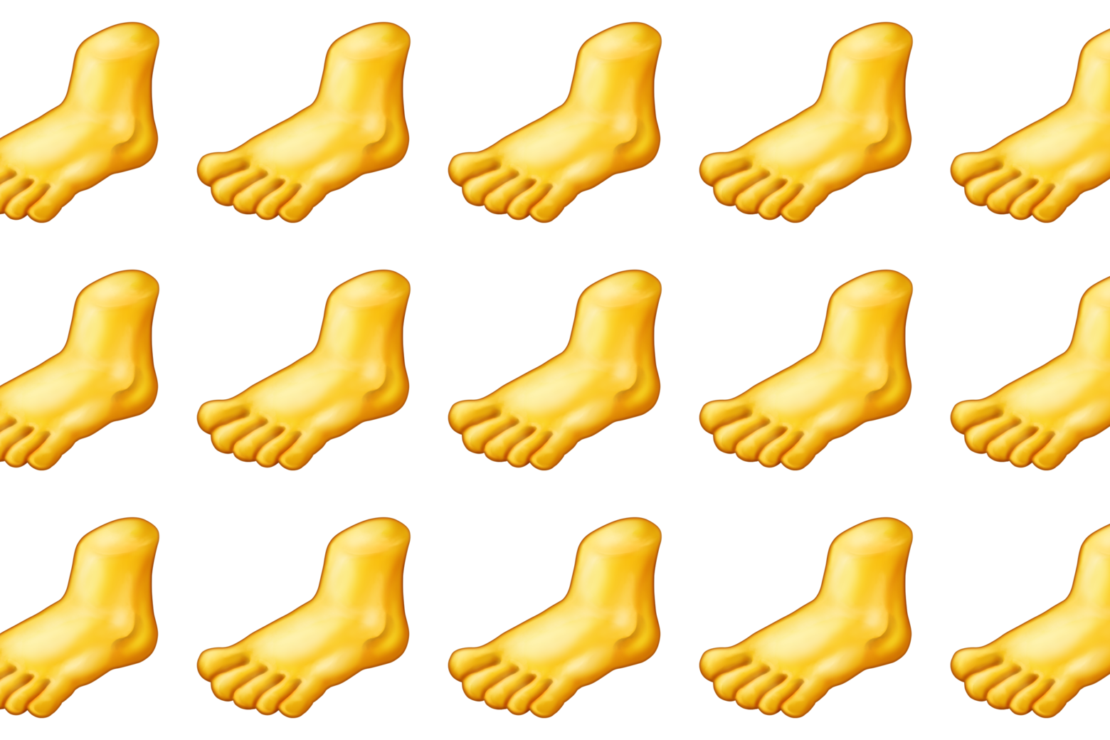 Severed foot emojis.