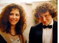 Robin and I, or really our hair, going to the prom
