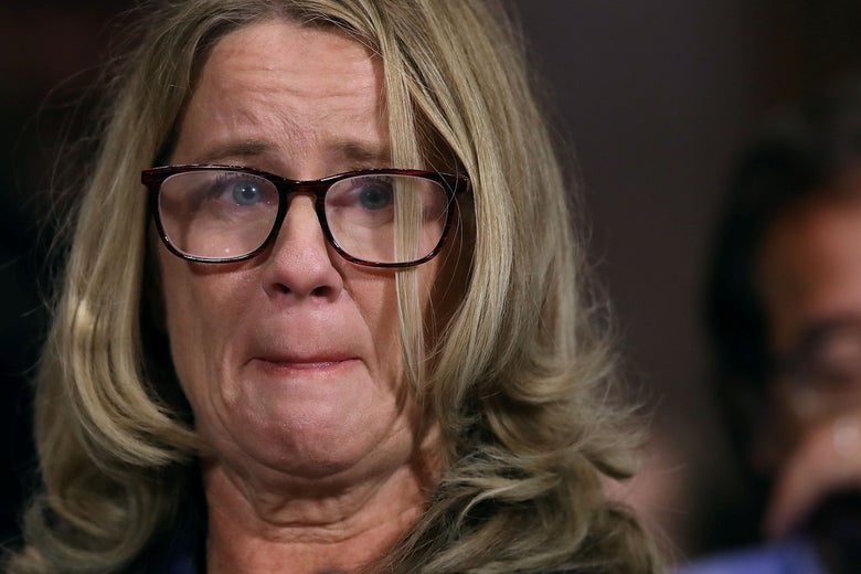 Christine Blasey Ford testifies before the Senate Judiciary Committee in the Dirksen Senate Office Building on Capitol Hill in Washington, D.C. on September 27, 2018.
