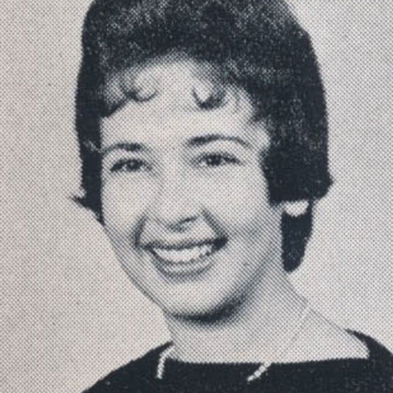Yearbook photo of Flora Schnall.