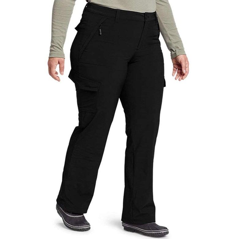 Snow pants on a model