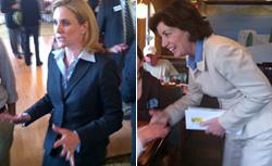 Jane Corwin and Kathy Hochul. Click image to expand.
