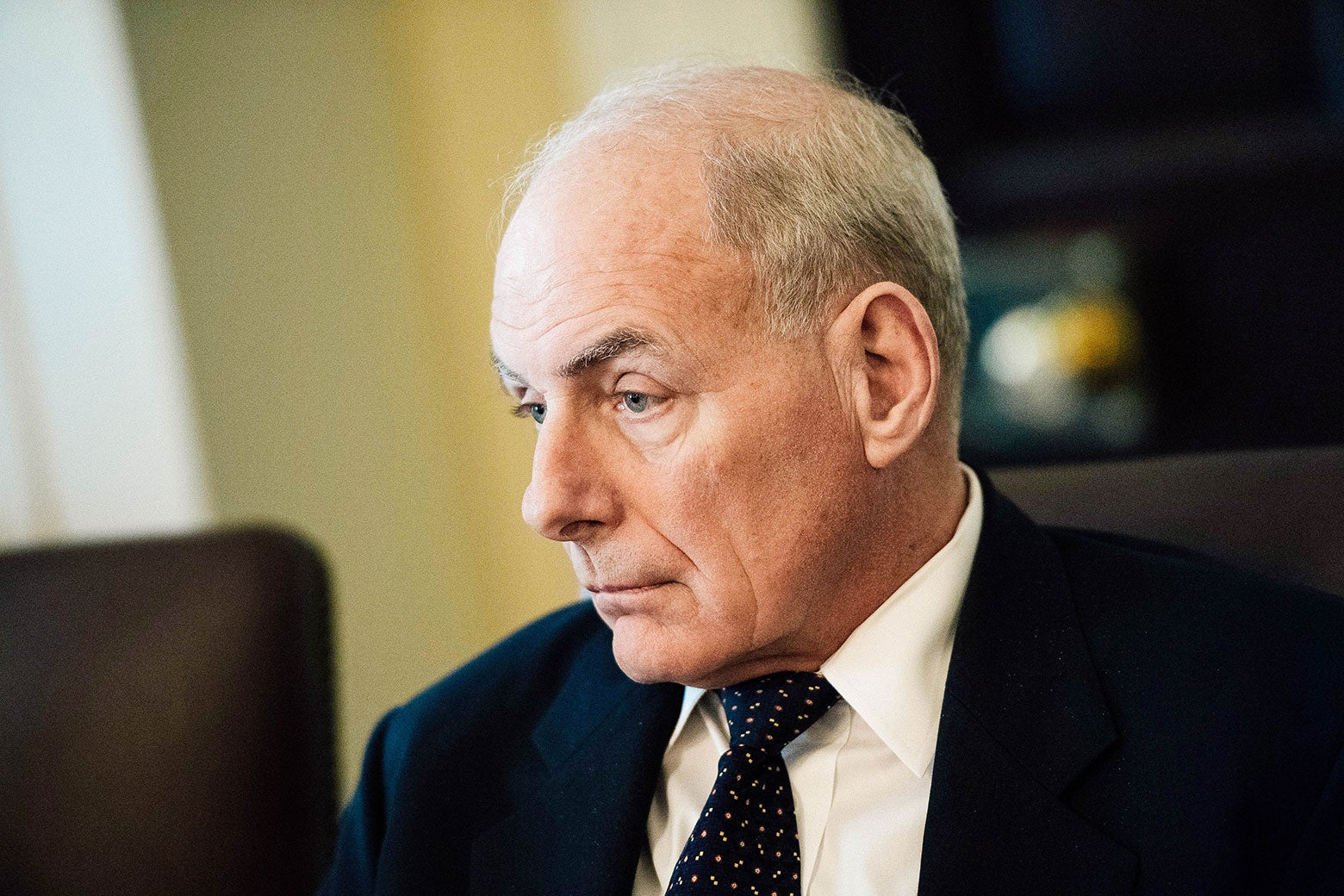 White House Chief of Staff John Kelly attends a Cabinet meeting with President Donald Trump at the White House on Nov. 20.