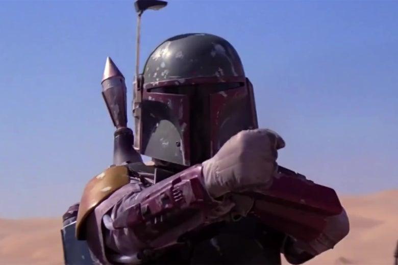 Boba Fett in Return of the Jedi.