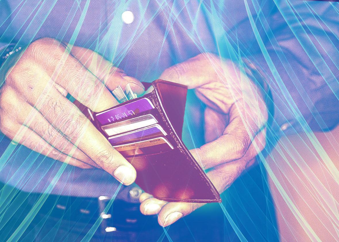 radio wave repelling wallet.