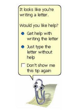 """Clippy"" from Microsoft Word."