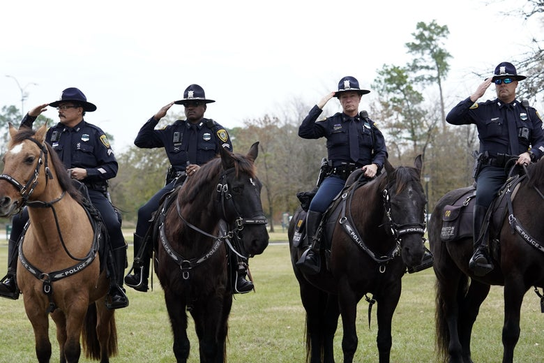 Texas Cops on Horseback Who Led Black Man by Rope Won't Face Criminal Probe