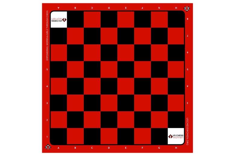 Women's vinyl chessboard