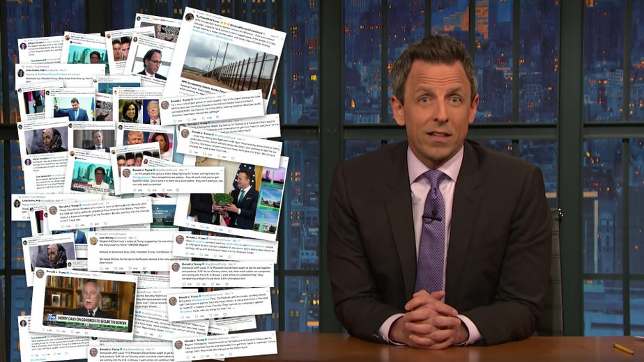Seth Meyers Lists All the Dumb Things Donald Trump Tweeted About This Weekend and It's Breathtaking