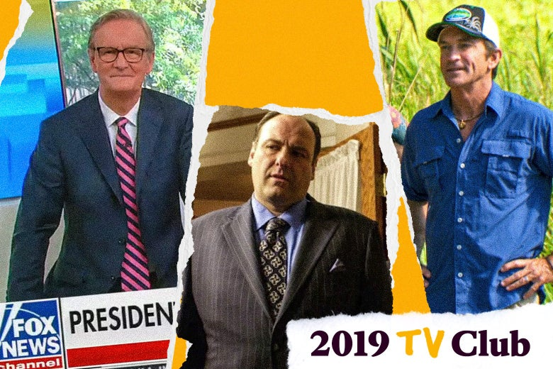 A Fox New host, Tony Soprano, and Jeff Probst of Survivor.