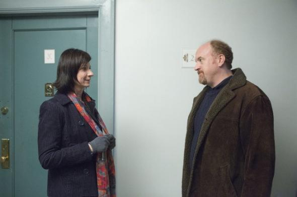 Louie (Louis CK) and Amia (Eszter Balint) on Season 4 of Louie