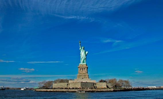 The Statue of Liberty seen in New York on December 4, 2009.