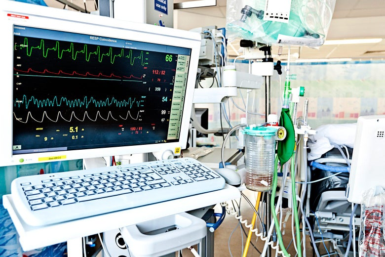 ICU machines and wires