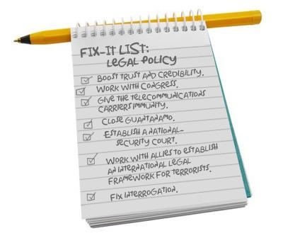 Fix-it List: Legal Policy.