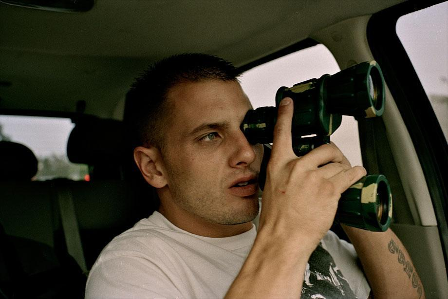 Paul spies on Nikki Hilton from his car in Los Angeles, Sept. 15, 2009.