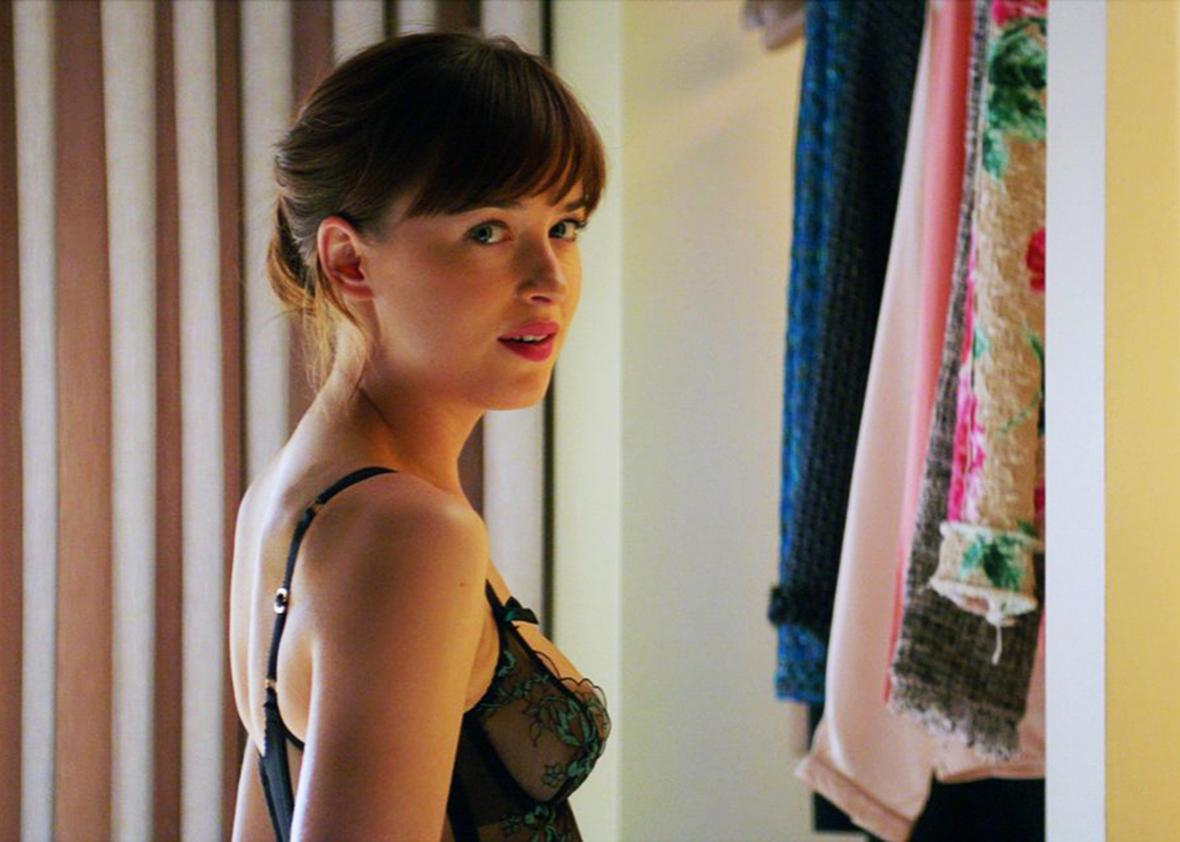 Dakota Johnson in Fifty Shades Darker.