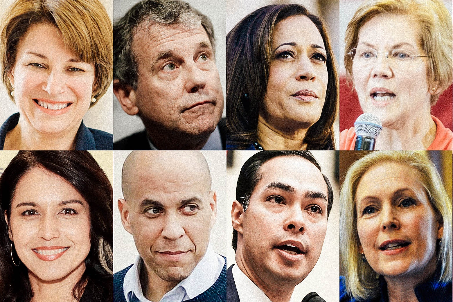 Eight candidates running in 2020 for President.