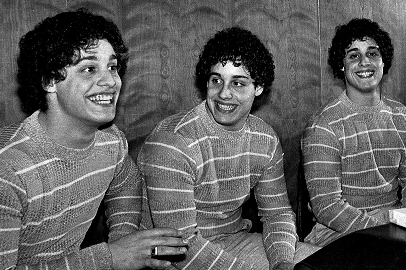 Bobby Shafran, Eddy Galland, and David Kellman—triplets who were separated for science.