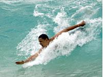 Barack Obama in Hawaii. Click image to expand.