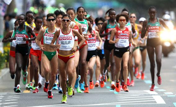 Women's marathon during day one.
