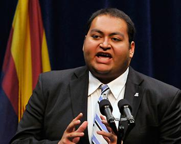 Daniel Hernandez, Jr., an intern of U.S. Rep. Gabrielle Giffords.
