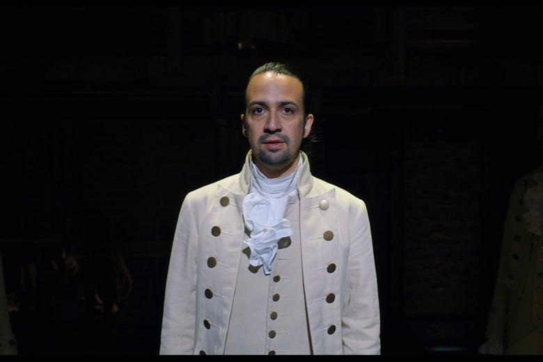 Lin-Manuel Miranda in Hamilton.