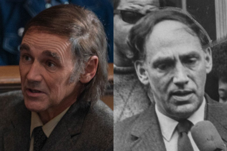 Mark Rylance as William Kunstler, and William Kunstler.