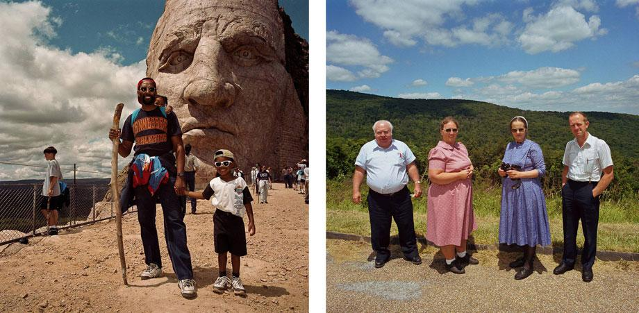 Father and Son at Crazy Horse Monument, S.D. 1991 (l) Hutterite Couples Shenandoah National Park, 1999.