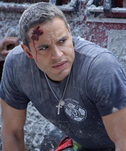 Daniel Sunjata as Franco Rivera on Rescue Me. Click image to expand.